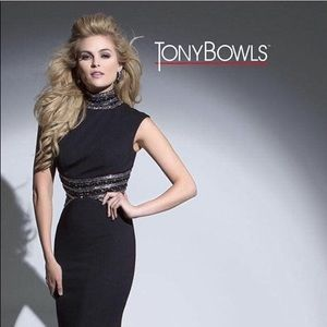 Tony Bowls Black Evening Gown